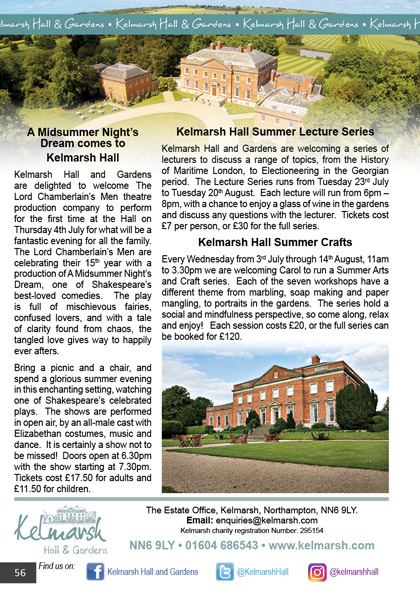 Kelmarsh Hall & Gardens July/August 2019