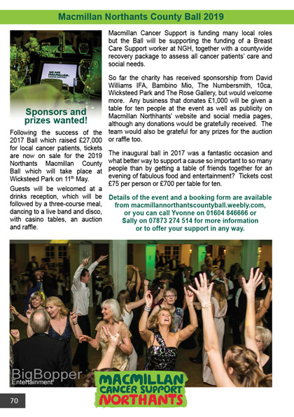 Macmillan Northants County Ball 2019