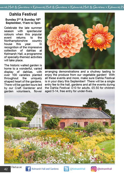 Kelmarsh Hall & Gardens September/October 2018
